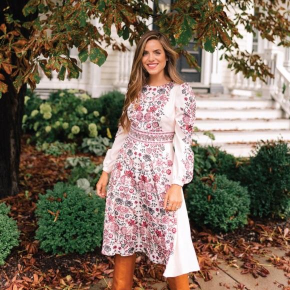 35badd20ed NWT GAL MEETS GLAM Chloe Floral Long Sleeve Dress NWT
